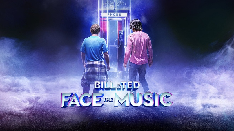 bill and ted face the music review phone booth poster