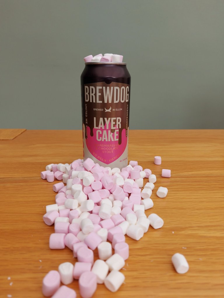 brewdog layer cake marshmallow and chocolate stout cans across the world crazydiscostu craft beer reviews nerd blog