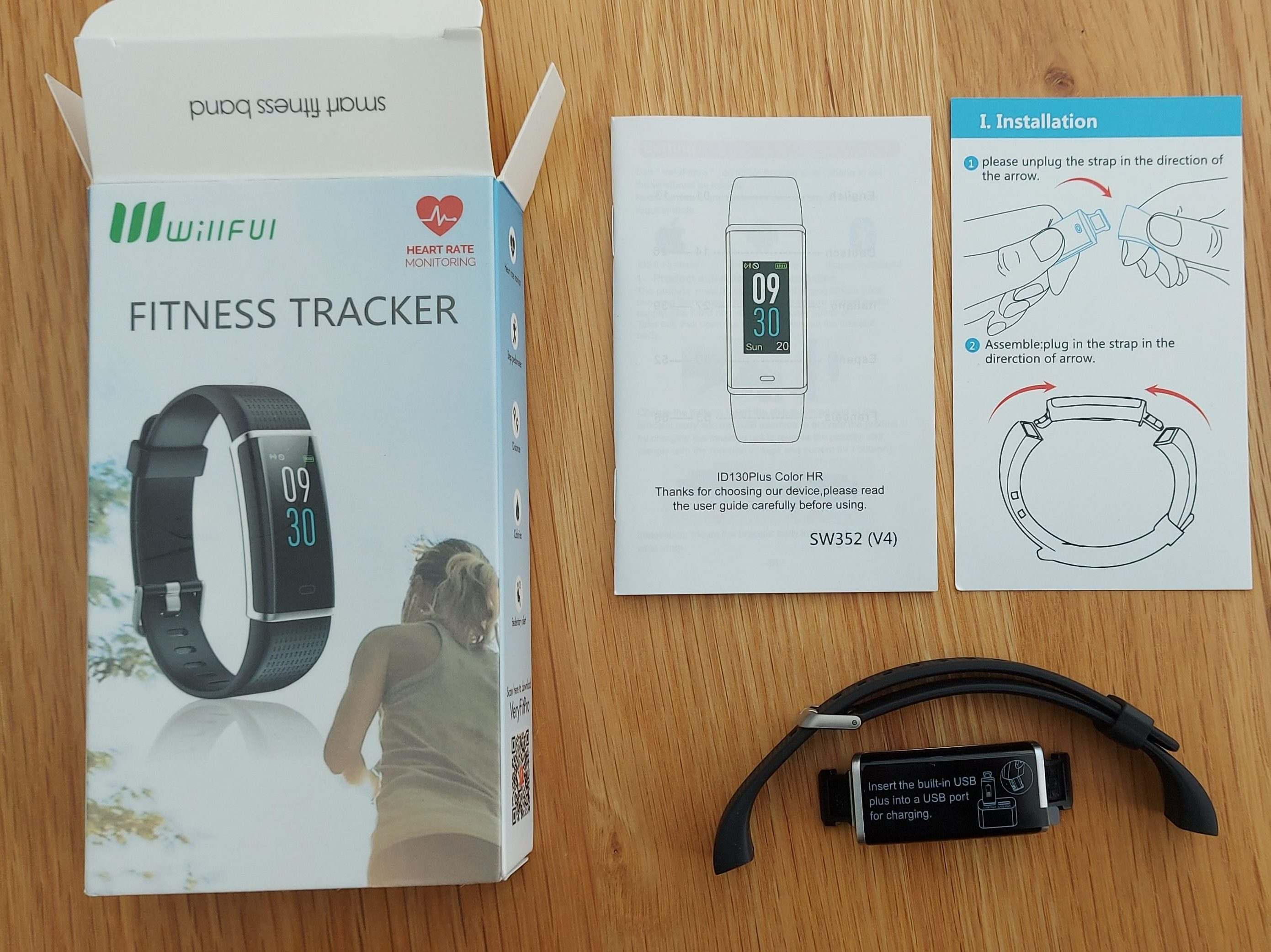 tech review nerd Willful fitness tracker sw352 amazon review