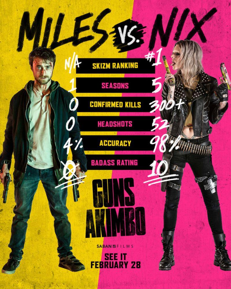 guns akimbo film review crazydiscostu film poster