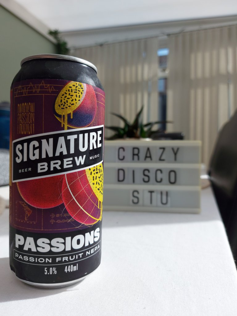 signature brew passions new england pale ale crazydiscostu beer blog and podcast cansacrosstheworld